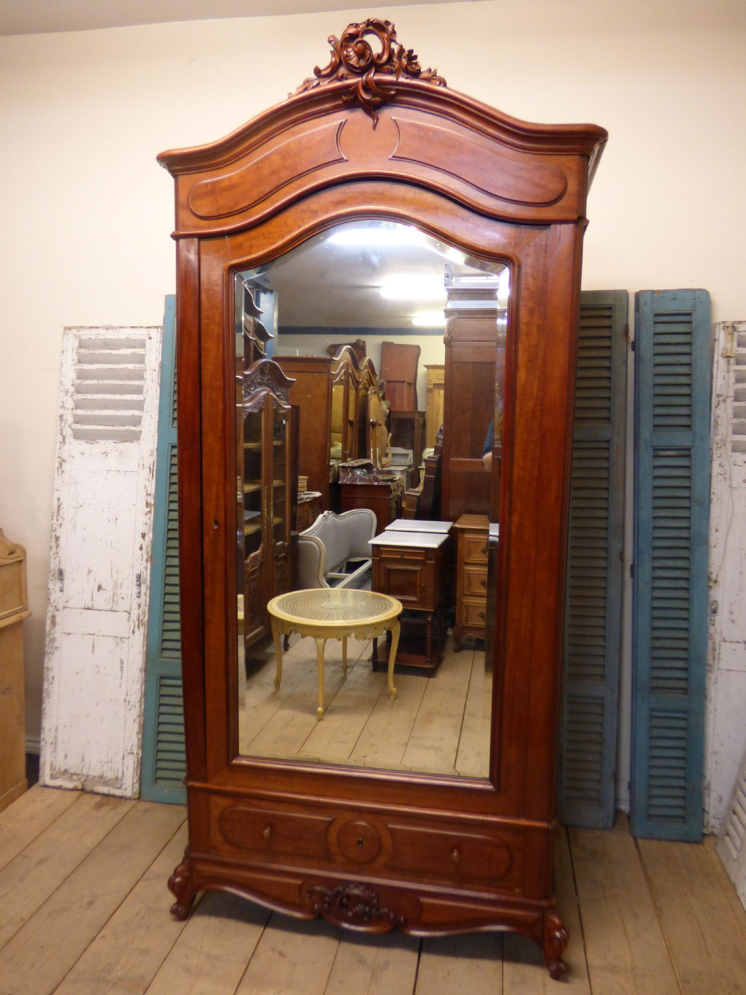 antique french armoire rare deep example ha39 the french depot. Black Bedroom Furniture Sets. Home Design Ideas