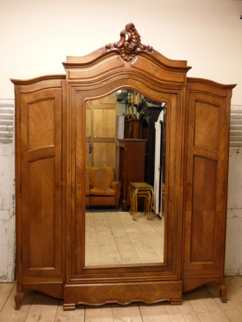 Large French Antique Armoire   French Bookcase   New In   P965   The French  Depot