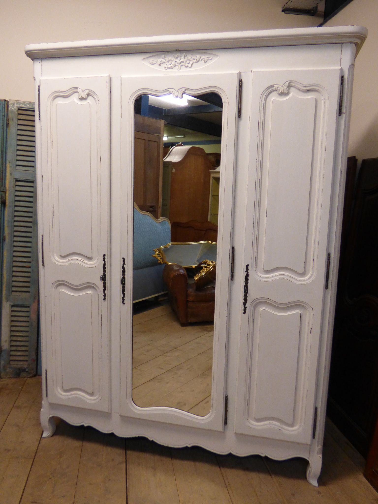 Vintage French Armoire   French Wardrobe  Just In   Ca110   SOLD   The  French Depot