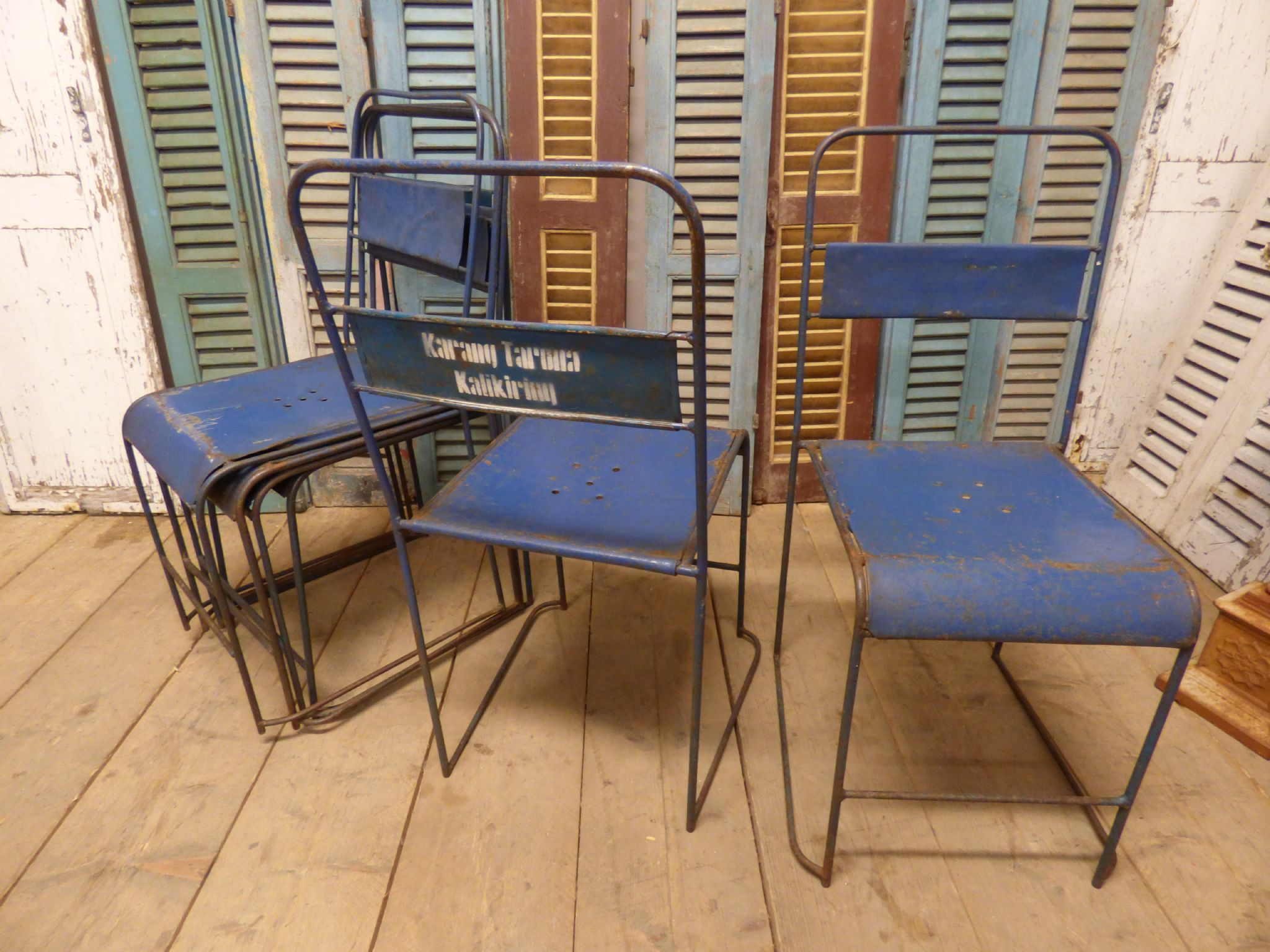 Delightful Vintage Industrial Metal Chairs