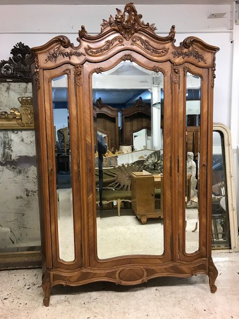 Antique French Armoire - Bookcase - Cupboard - gc43