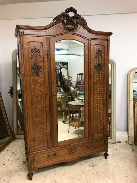 Antique French Armoire Wardrobe M12