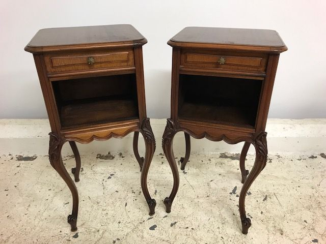 Antique French Bedside Cabinets - ha199