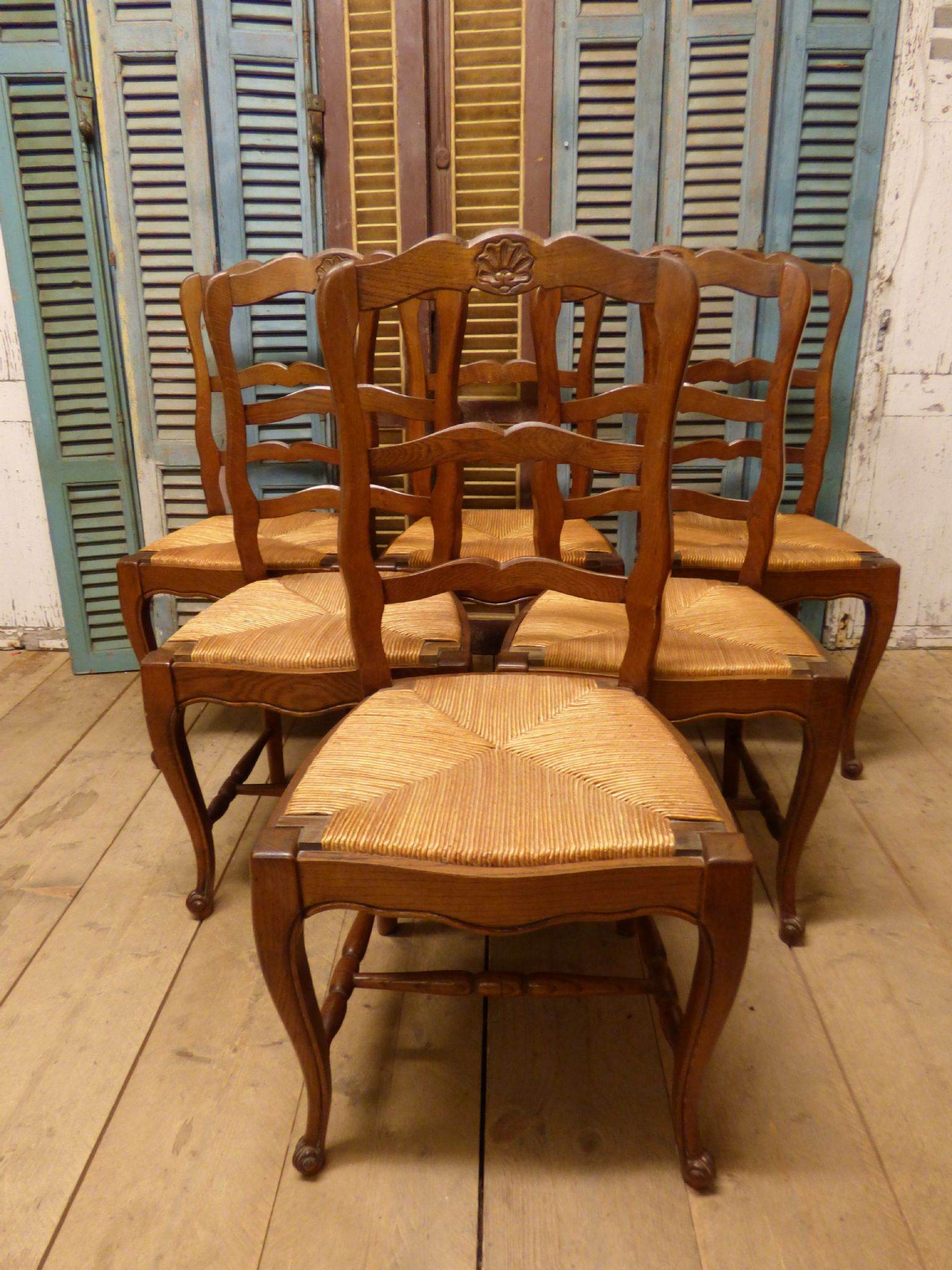 - Great Set Of Six Antique French Dining Chairs - Ca17