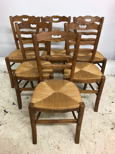 Great Set Of Six French Dining Chairs - ca130