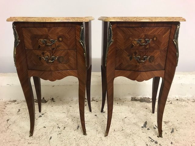 Lovely Pair of French Bedside Cabinets - a100