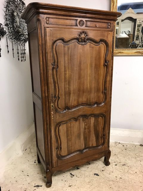 Vintage French One Door Armoire - Cupboard - m12